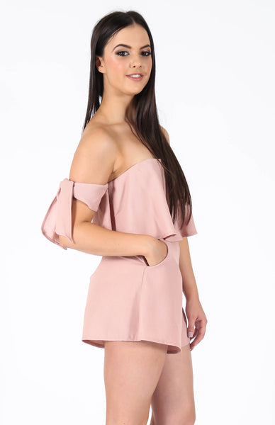 Sky Dusty Pink Playsuit Side Alt