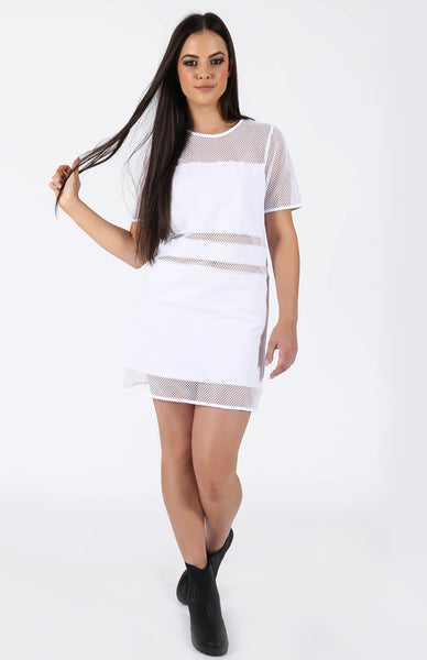 nANA jUDY Starliner Tee Dress White Front Alt