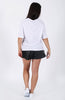 nANA jUDY Basic Boxy Tee White Back