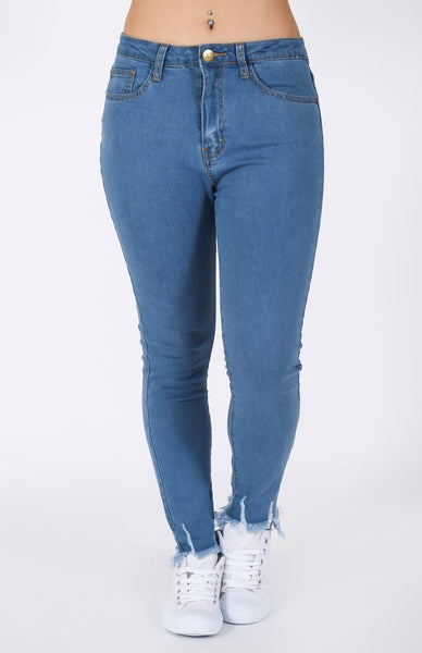 Highway Skinny Jeans Blue Wash Front