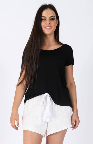 Back To Basics Top Black