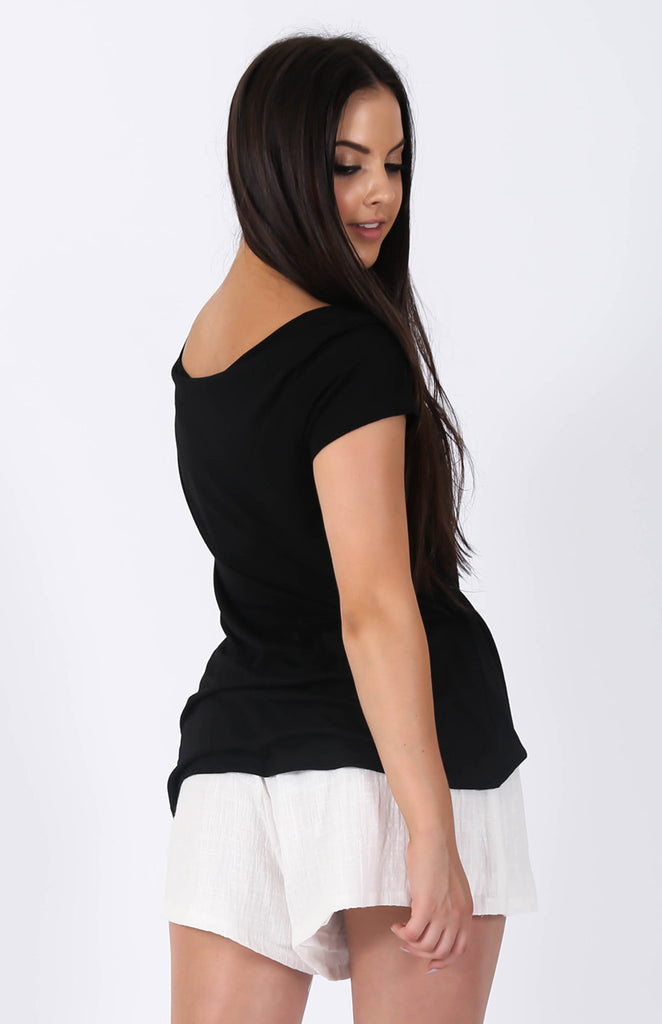 Back To Basics Top Black Back
