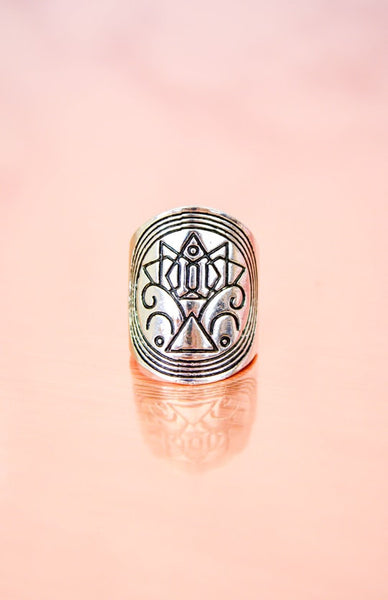 Earth Warrior Ring - Antique Silver Rollover