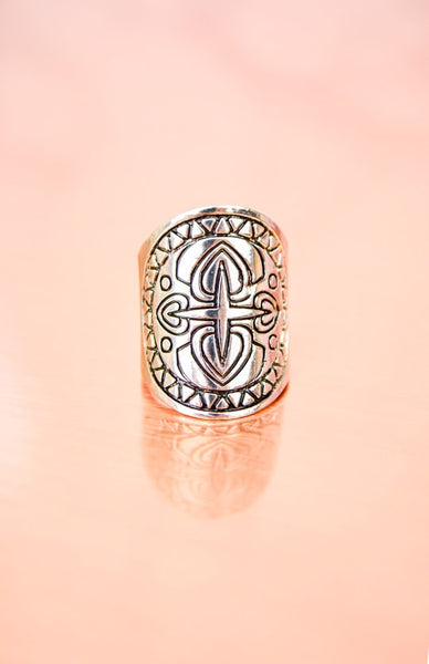 Fire Warrior Ring - Antique Silver Rollover