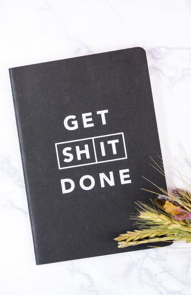 Get Shit Done: Classic A6 Notebook - Black
