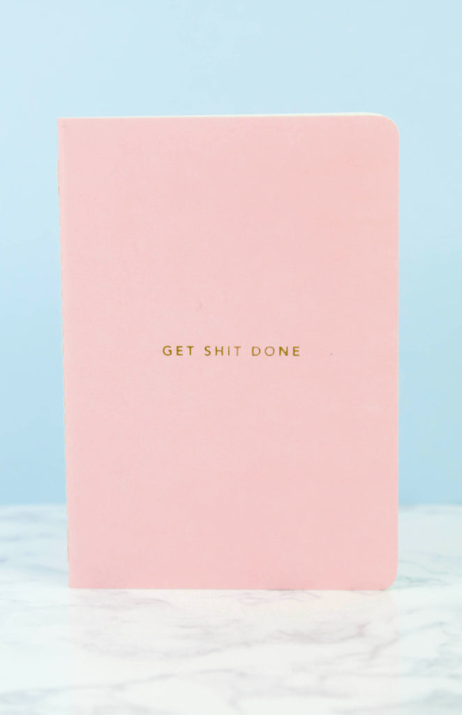 Get Shit Done: Minimal A6 Notebook - Pink
