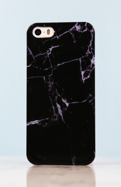 Gloss Black Marble iPhone Case - 5/5S Rollover
