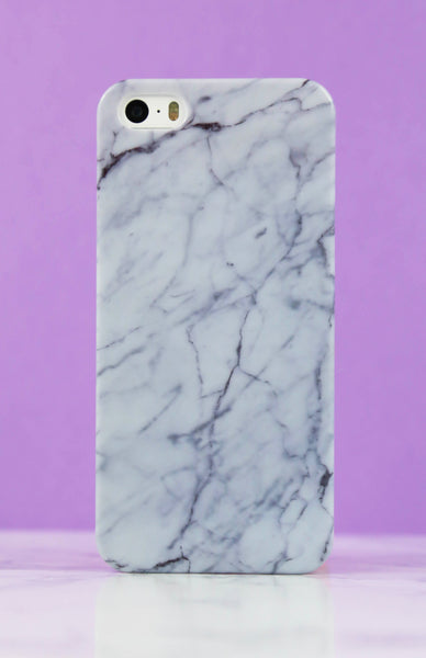 Gloss White Marble iPhone Case - 5/5S Rollover