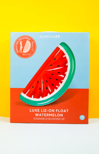 Watermelon Luxe Lie-on Float Inflatable