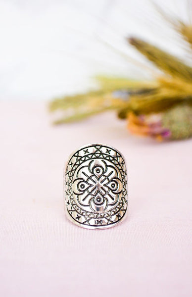 Moon Warrior Ring - Antique Silver Rollover