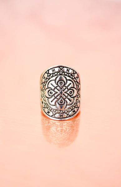 Moon Warrior Ring - Antique Silver