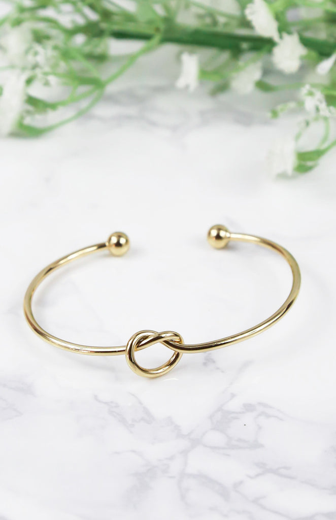 Knotted Arm Cuff - Gold