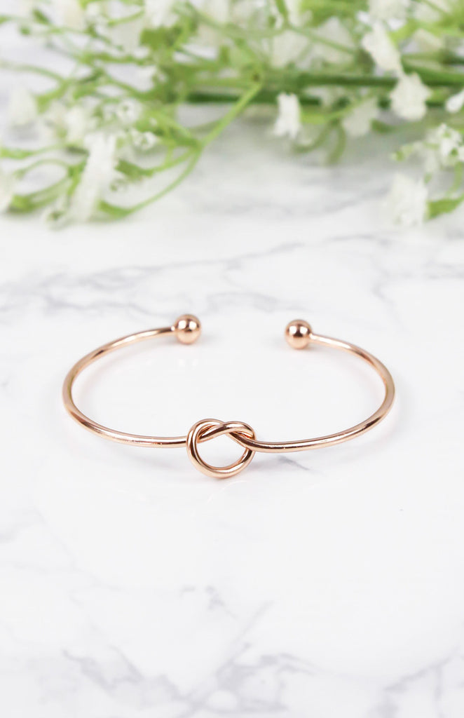 Knotted Arm Cuff - Rose Gold
