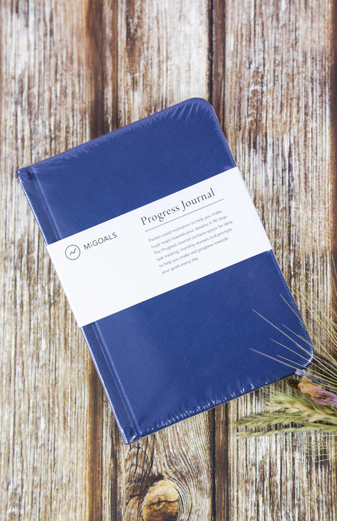 Progress Journal: A6 Hardcover Journal - Navy