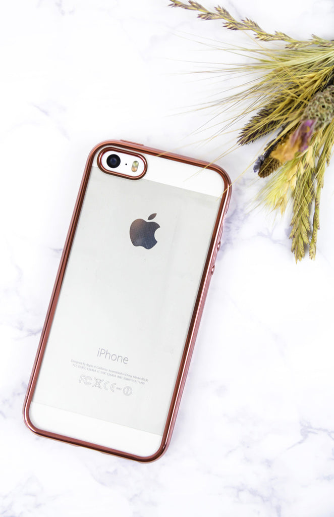 Rose Gold Trim iPhone Case - 5/5S