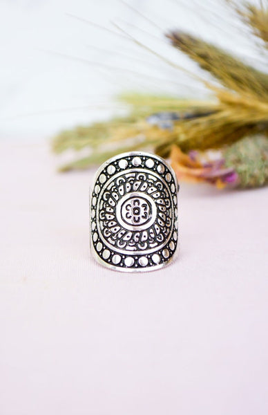 Sun Warrior Ring - Antique Silver