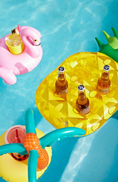 Sunnylife Inflatable Drink Holder - Pineapple Lifestyle Shot