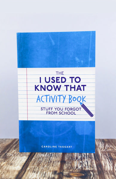 The I Used To Know That Activity Book - Paperback Front