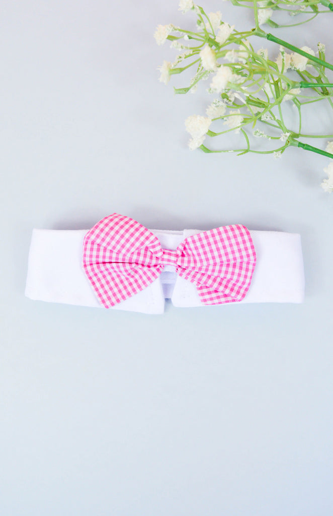Smooth Talker Bowtie Collar - Pink
