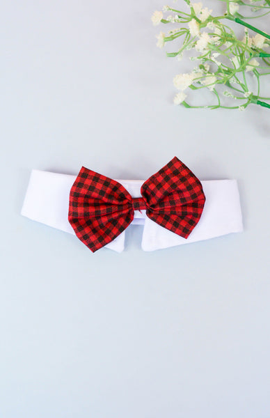 Bad To The Bone Bowtie Collar - Red