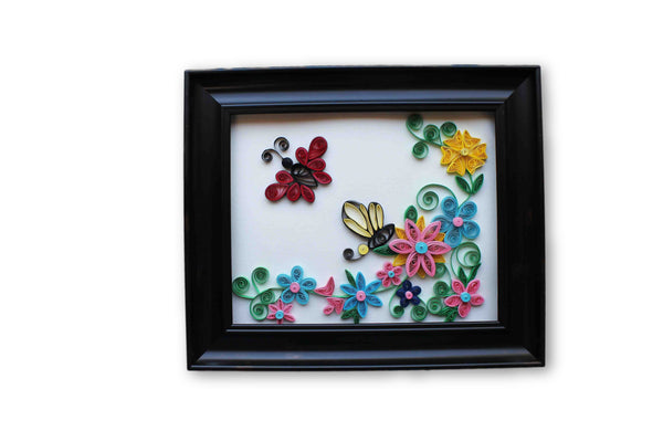 The Spring 3d Quilling Wall Decor Magenta Butterfly