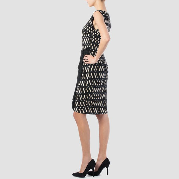 Joseph Ribkoff - Diamond Printed Sleveless Cocktail Dress