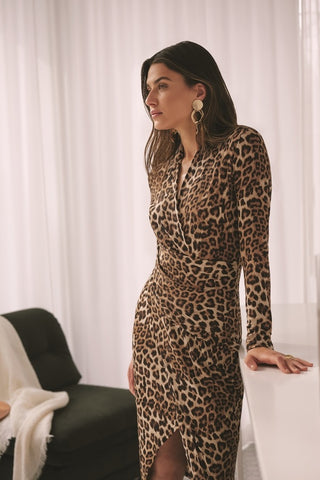 CHEETAH PRINTED DRESS