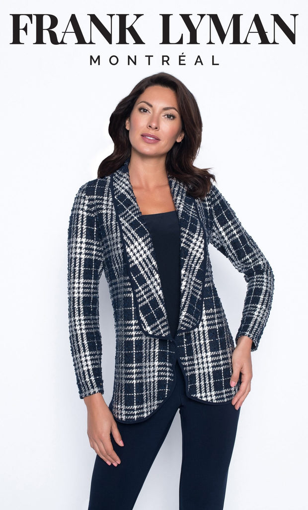 FRANK LYMAN NAVY PLAID JACKET