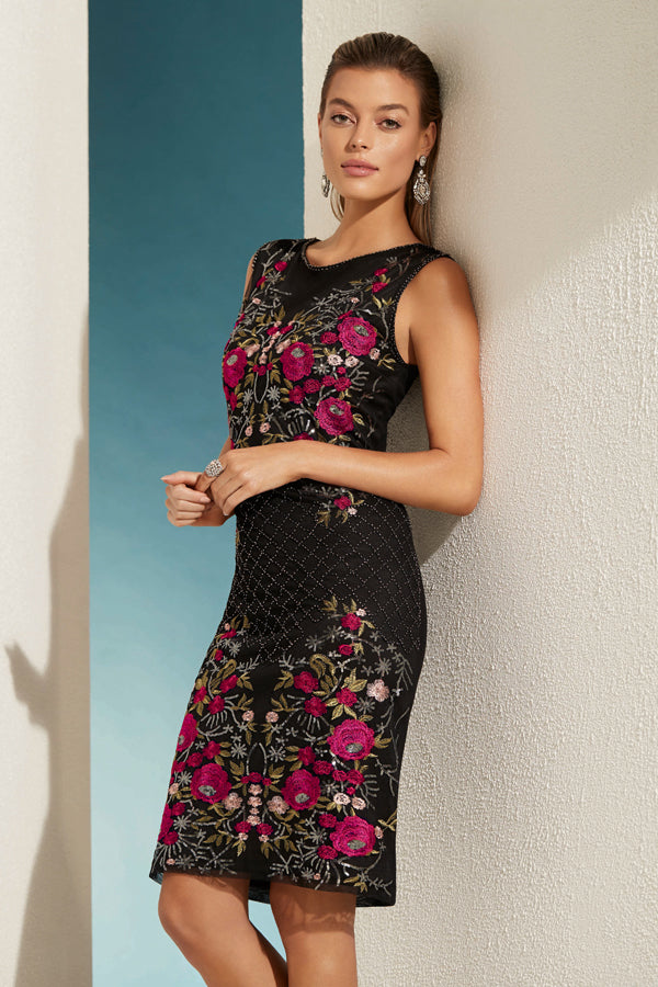 EMBROIDERED SEQUIN DRESS- 208111U