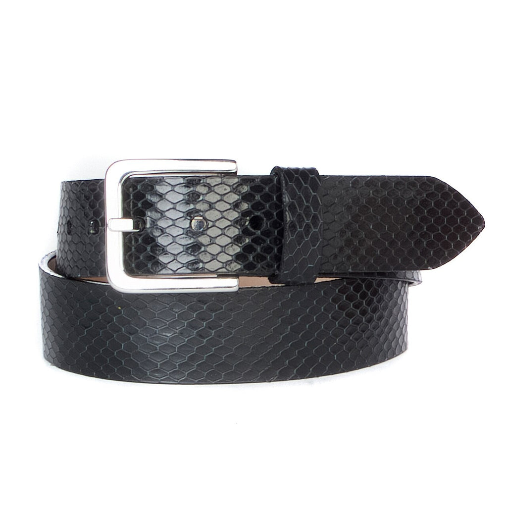 LUMISI SNAKE PRINT LEATHER BELT