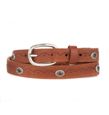 FRANCIS STUDDED LEATHER BELT