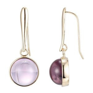 Reign Genuine Brazil Amethyst Bubble Earrings - Nica's Clothing & Accessories