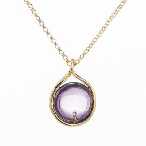 Reign Genuine Brazil Amethyst Bubble Pendant - Nica's Clothing & Accessories