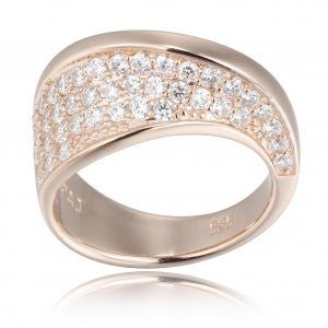 Reign Diamondlite Rose Ribbon Ring - Nica's Clothing & Accessories