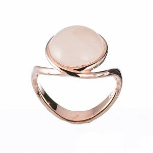 Reign Genuine Rose Quartz Bubble Ring - Nica's Clothing & Accessories