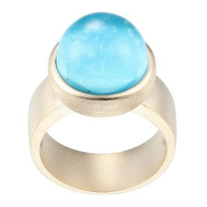 Reign Genuine Blue Turquoise Bubble Ring - Nica's Clothing & Accessories