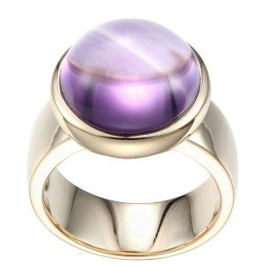 Reign Genuine Brazil Amethyst Bubble Ring - Nica's Clothing & Accessories