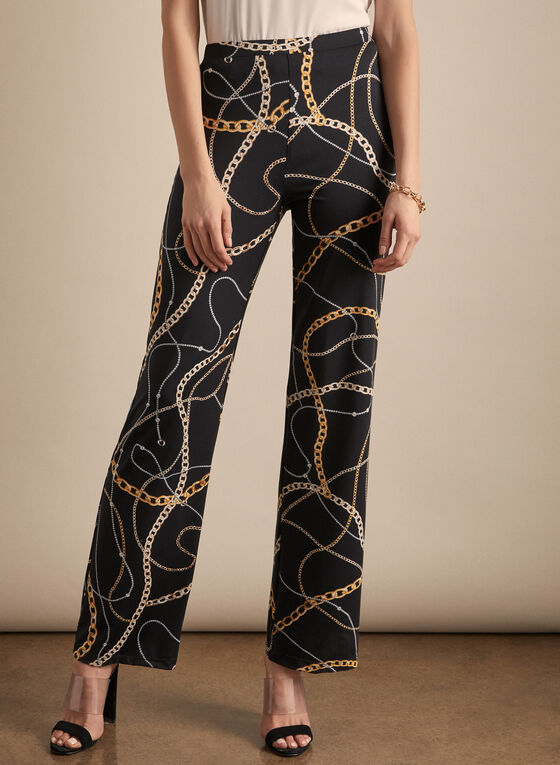 CHAIN PRINTED PANTS- 196335