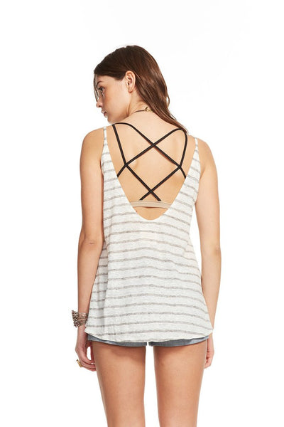 LINEN JERSEY SCOOP BACK FOUNCE TANK - Nica's Clothing & Accessories - 2