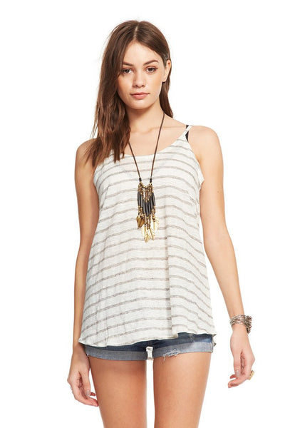 LINEN JERSEY SCOOP BACK FOUNCE TANK - Nica's Clothing & Accessories - 1