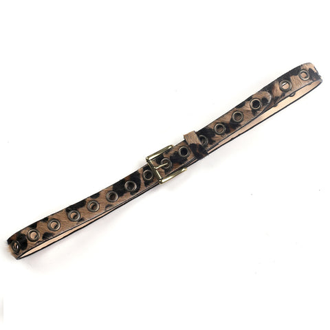 DAI LEOPARD PRINT LEATHER BELT