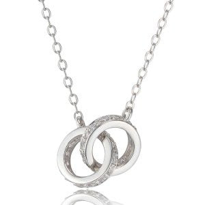 Reign Diamondlite Interlocking Circles Necklace - Nica's Clothing & Accessories