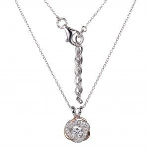 Reign Diamondlite Two Tone Love Knot Pendant - Nica's Clothing & Accessories