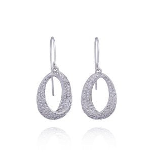 Reign Diamondlite Oval Twist Drop Earrings - Nica's Clothing & Accessories