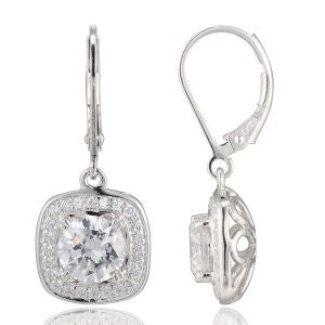 Reign Diamondlite Cushion Halo Earrings - Nica's Clothing & Accessories