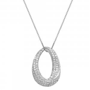 Reign Diamondlite Oval Twist Necklace - Nica's Clothing & Accessories - 1