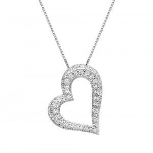 Reign Diamondlite Floating Heart Pendant - Nica's Clothing & Accessories