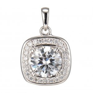 Reign Diamondlite Cushion Halo Pendant - Nica's Clothing & Accessories