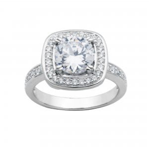 Reign Diamondlite Cushion Halo Ring - Nica's Clothing & Accessories