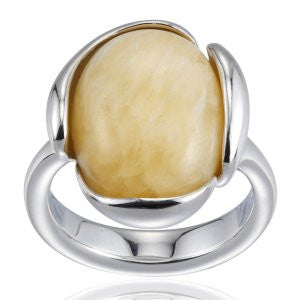 Reign Genuine Honey Jade Bubble Ring - Nica's Clothing & Accessories